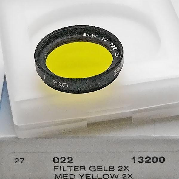 B+W Schwarzweißfilter 022 Gelb Mittel Ø 27,0 mm