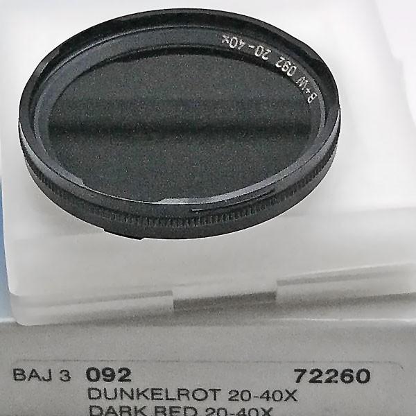B+W Infrarotfilter 092 Dunkelrot 695 Bajonett 3
