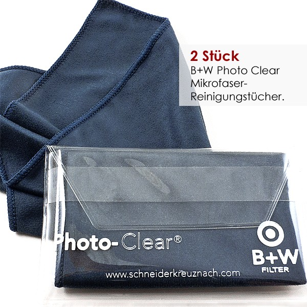 1 Paar B+W PHOTO CLEAR Reinigungstücher