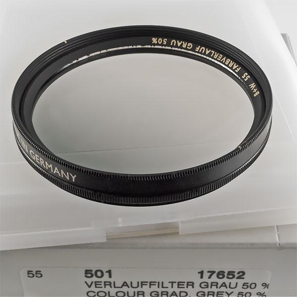B+W Verlauffilter Grau 501 MARKIERT (50%, +1 Blende) Ø 55,0 mm