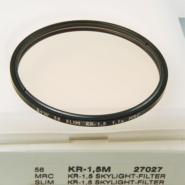 B+W KR-1,5 Skylight-Filter MRC SLIM Ø 58,0 mm