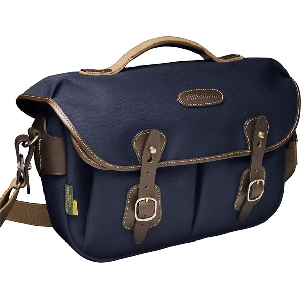 Billingham Hadley Pro 2020 Navy / Chocolate (Canvas / Leder)
