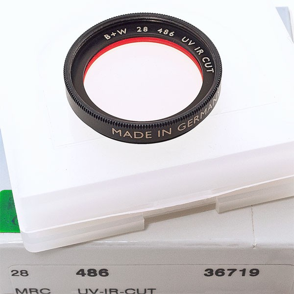 Rarität: B+W UV/IR-Sperrfilter Ø 28,0 mm