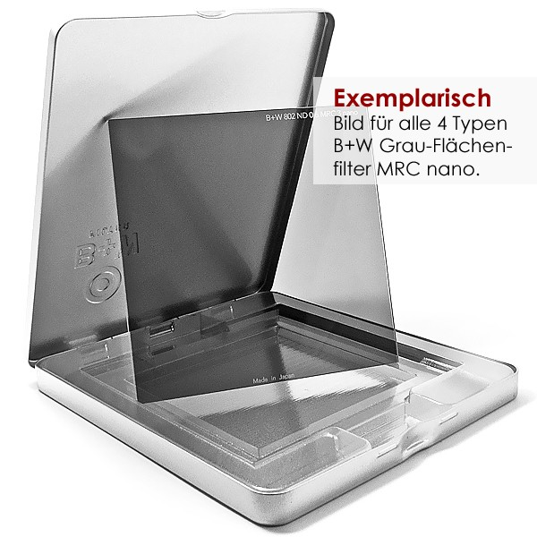 B+W Graufilter (ND) MRC nano 100x100x2 mm in Etui