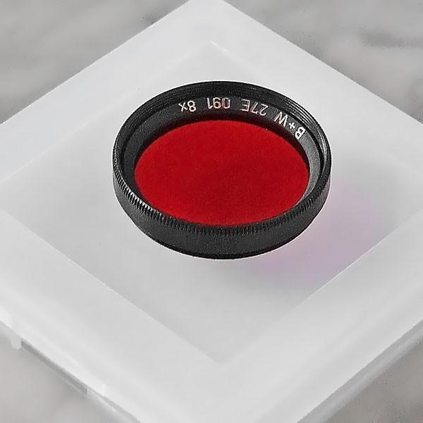 B+W Schwarzweißfilter 091 Rot Dunkel Ø 27,0 mm (x0,50)