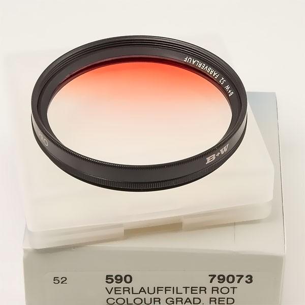 B+W Farbverlauffilter 590 Rot Ø 52,0 mm