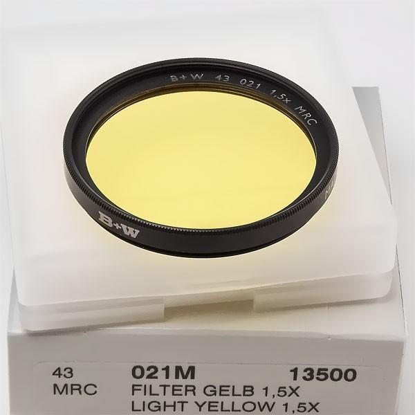 B+W Schwarzweißfilter 021 Gelb Hell MRC Ø 43,0 mm