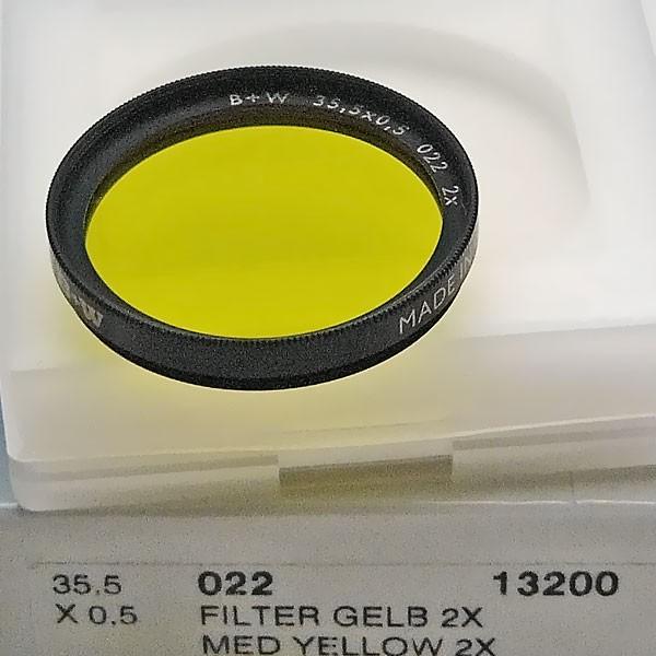 B+W Schwarzweißfilter 022 Gelb Mittel Ø 35,5 mm