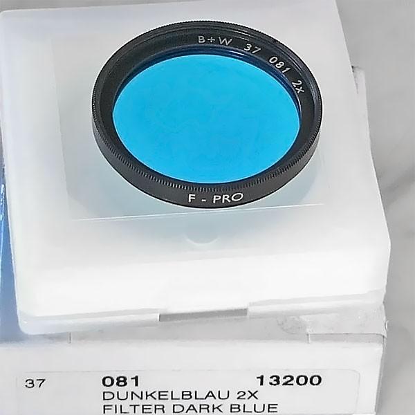 B+W Schwarzweißfilter 081 Blau Ø 37,0 mm